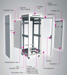 ORION ST 12U 600x800mm Rack Kabinet - Thumbnail