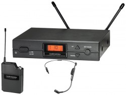 Audio Technica - ATW-2110A/HC2 Kardioid kondenser kafaya takılabilen kablosuz mikrofon sistemi