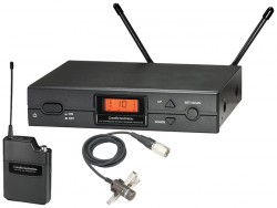 Audio Technica - ATW-2110A/P Kardioid kondenser yakaya takılabilen kablosuz mikrofon sistemi