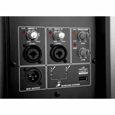 Eurolive B115D 1000 Watt 2 Yollu Aktif Kablosuz Mikrofon Seçenekli Kabin