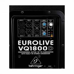 Eurolive VQ1800D 500 Watt Dahili Crossover Subbass - Thumbnail