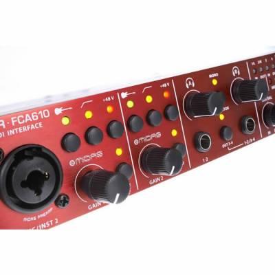 FCA610 6 in 10 out Kanallı Midas PreAmfi Midi USB Harici Ses Kartı