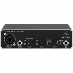 UMC22 2x2 Ev Stüdyosu için Midas Mikrofon PreAmfi Ses Kartı - Thumbnail