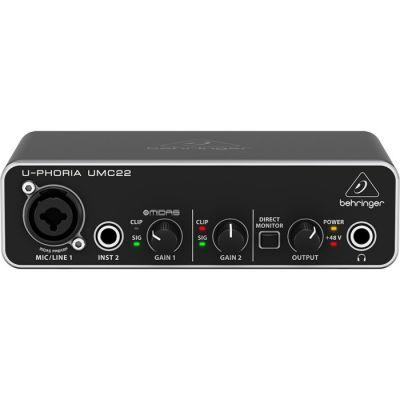 UMC22 2x2 Ev Stüdyosu için Midas Mikrofon PreAmfi Ses Kartı