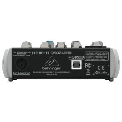 Xenyx Q502USB 5 Kanal USB Deck Mikser