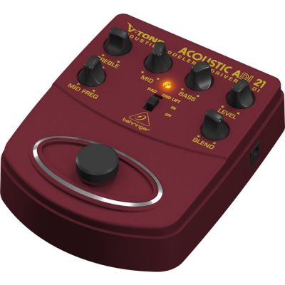 V-TONE DI ADI21 Profesyonel Akustik Gitar için Pedallı Preamfi DI-BOX