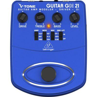 V-TONE DI GDI21 Profesyonel Elektro Gitar için Pedallı DI Box Preamfi