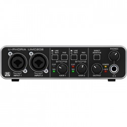 Behringer - UMC202 2x2 USB Midas Mikrofon PreAmfi Harici Ses Kartı