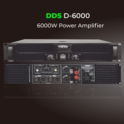 DDS - D-6000 6000 Watt Power Amfi