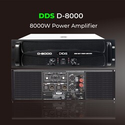 DDS - D-8000 8000 Watt Power Amfi