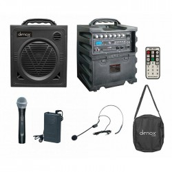 Denox - DN-P1125 Taşınabilir Kablosuz Çanta Anfi El+Headset+Yaka