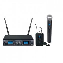 Denox - TRX-320 EL+YAKA UHF Telsiz El ve Yaka Mikrofon