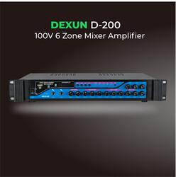 Dexun - D-100 5 Bölgeli 100V Hat Trafolu Anfi