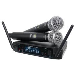 Doppler - DM-132H Çift Anten Çift El Telsiz Mikrofon Seti