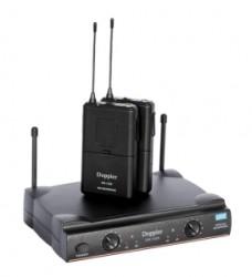 Doppler - DM-152B Çift Anten Çift Yaka Telsiz Mikrofon