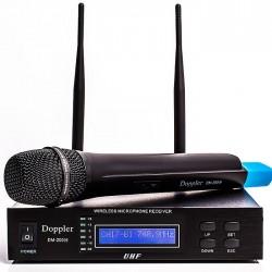 Doppler - DM-200H Tek El Telsiz Mikrofon Çift Anten 16 Kanal Dijital