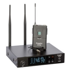 Doppler - DM-350B Çift Anten Tek Yaka Telsiz Mikrofon Seti