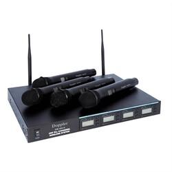 Doppler - DM 400H Çift Anten Dört El Telsiz Mikrofon