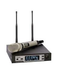Doppler - DM-801H Çift Anten Tek El Pro Dijital Telsiz Mikrofon Black, Gold