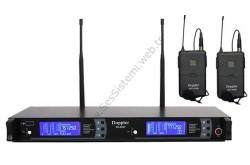 Doppler - DM-802B Çift Yaka Telsiz Mikrofon