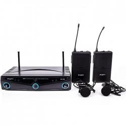 Doppler - DM-102B 2 li Yaka Telsiz Mikrofon UHF Çift Anten