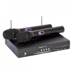Doppler - DM-102H 2 li El Telsiz Mikrofon UHF Çift Anten