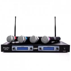 Doppler - DM-104H 4 lü El Telsiz Mikrofon UHF Çift Anten