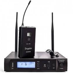 Doppler - DM-500B Tek Yaka Telsiz Mikrofon Çift Anten 6x16 Kanal Dijital