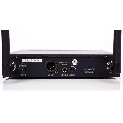 DM-500H Tek El Telsiz Mikrofon Çift Anten 6x16 Kanal Dijital