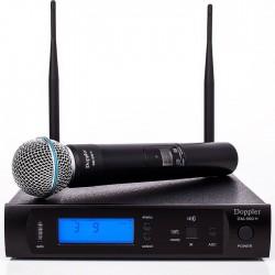 Doppler - DM-500H Tek El Telsiz Mikrofon Çift Anten 6x16 Kanal Dijital