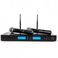 Doppler - DM-502H 2li El Telsiz Mikrofon Çift Anten 6x16 Kanal Dijital