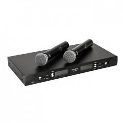 Doppler - DM-602H 2 li El Telsiz Mikrofon UHF Çift Anten 6x16 Kanal Dijital