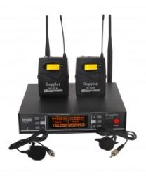 Doppler - Doppler Dm252B Yaka Tipi Çiftli Telsiz Mikrofon