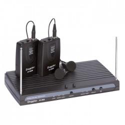 Doppler - VH-902B 2 li Yaka Telsiz Mikrofon VHF Çift Anten