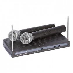 Doppler - VH-912H 2 li El Telsiz Mikrofon VHF Çift Anten