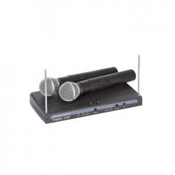 Doppler - VH-902H VHF Çift Anten Çift El Telsiz Mikrofon