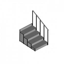 EM - Dayamalı Merdiven - 4 Basamaklı