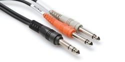 HOSA - 1/4′′ TRS (M) <-> Dual 1/4′′ TS (M) Insert kablo, 2 mt(Erkek) STP-202