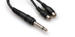 HOSA - HOSA 1/4'' TS (M) <-> Dual RCA (F) Y-kablo