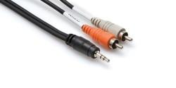 HOSA - 3.5 mm. TRS (M) <-> Dual RCA (M) Stereo Breakout kablo, 3 Mt(erkek) CMR-210