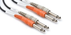 HOSA - Dual 1/4'' TS (M) - 1/4'' TS (M) Balanssız kablo 3 mt (Erkek) CPP-203