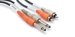 HOSA - Dual 1/4'' TS (M) - RCA (M) Balanssız kablo 4 mt (Erkek) CPR-204