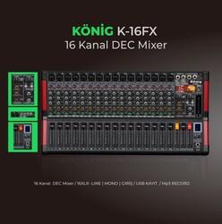 König - K-16FX 16 Kanal Deck Mikser