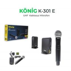 König - K-301 Kablosuz Tekli EL Mikrofon
