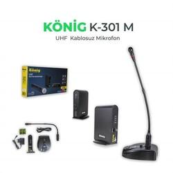 König - K-301 Kablosuz Tekli Masa Mikrofonu