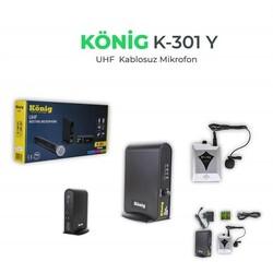 König - K-301 Kablosuz Tekli Yaka Mikrofonu