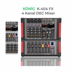 König - K-404 FX 4 Kanal Ses Mikseri
