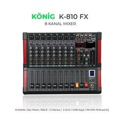 König - K-810 FX 8 Kanal Deck Mikser