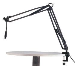 Konig Meyer - K&M Masaüstü Mikrofon Stand - Kollu (23850-311-55) Masaüstü kullanım içim ayarlı mikrofon standı