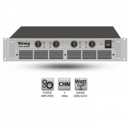 König - PRO-2808/S Dört Kanal Power Amplifier